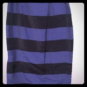 Banana republic striped pencil skirt size 10
